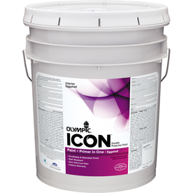 Olympic Icon 5 Gallon Size Container Interior Eggshell Tintable White Latex-Base Paint Paint and Primer In One (Actual Net Contents: 620 Fluid Oz.)