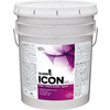 Olympic ICON White Satin Latex Interior Paint and Primer In One (Actual Net Contents: 620-fl oz)