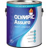Olympic White Satin Latex Interior Paint and Primer In One (Actual Net Contents: 124-fl oz)