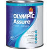 Olympic White Satin Latex Interior Paint and Primer in One (Actual Net Contents: 31-fl oz)