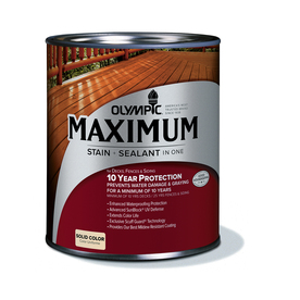 Shop Olympic Maximum Quart Size Container Tintable Multiple Solid Exterior Stain Actual Net