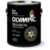 Olympic Black Soft-Gloss Latex Interior Paint (Actual Net Contents: 128-fl oz)