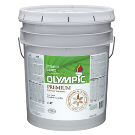 Olympic 5-Gallon Interior Flat Ultra White Paint