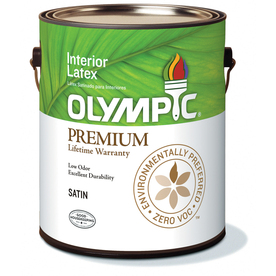 Olympic White Soft-Gloss Latex Interior Paint (Actual Net Contents: 124-fl oz)
