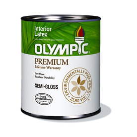 Olympic Quart Interior Semi-Gloss White Paint