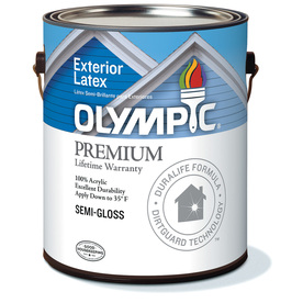 Olympic Quart Exterior Semi-Gloss White Paint