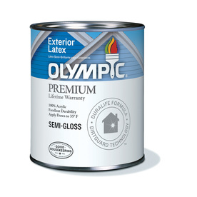 olympic white semi gloss latex exterior paint actual net contents. Black Bedroom Furniture Sets. Home Design Ideas