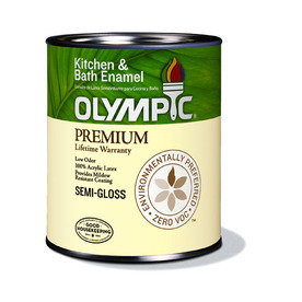 Olympic Quart Interior Semi-Gloss Kitchen and Bath White Paint