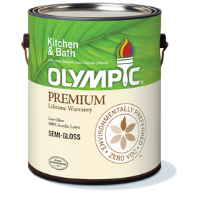 Olympic Gallon Interior Semi-Gloss White Paint
