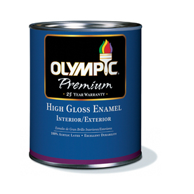 Olympic 4-Quart Interior/Exterior High-Gloss White Paint