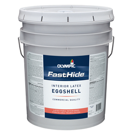 FastHide 5-Gallon Interior Eggshell White Latex-Base Paint