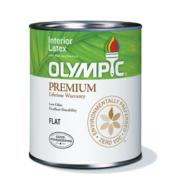 Olympic Quart Interior Flat Ultra White Paint