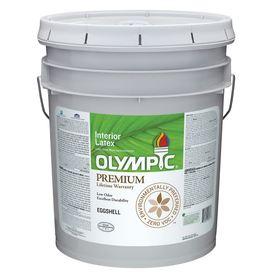 Olympic 5-Gallon Interior Eggshell White Paint