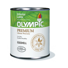 Olympic White Semi-Gloss Latex Interior Paint (Actual Net Contents: 28-fl oz)