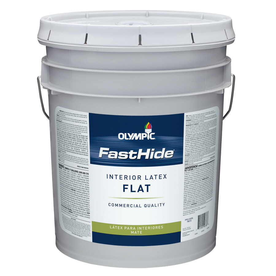 shop fasthide 5 gallon interior flat white latex base paint at