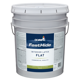 FastHide 5-Gallon Interior Flat Off White Paint