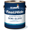 FastHide Gallon Interior Semi-Gloss White Paint