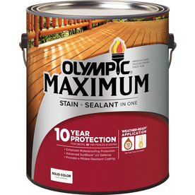 Olympic Maximum Tintable Multiple Solid Exterior Stain (Actual Net Contents: 120-fl oz)