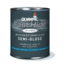 FastHide 4-Quart Interior/Exterior Semi-Gloss White Paint