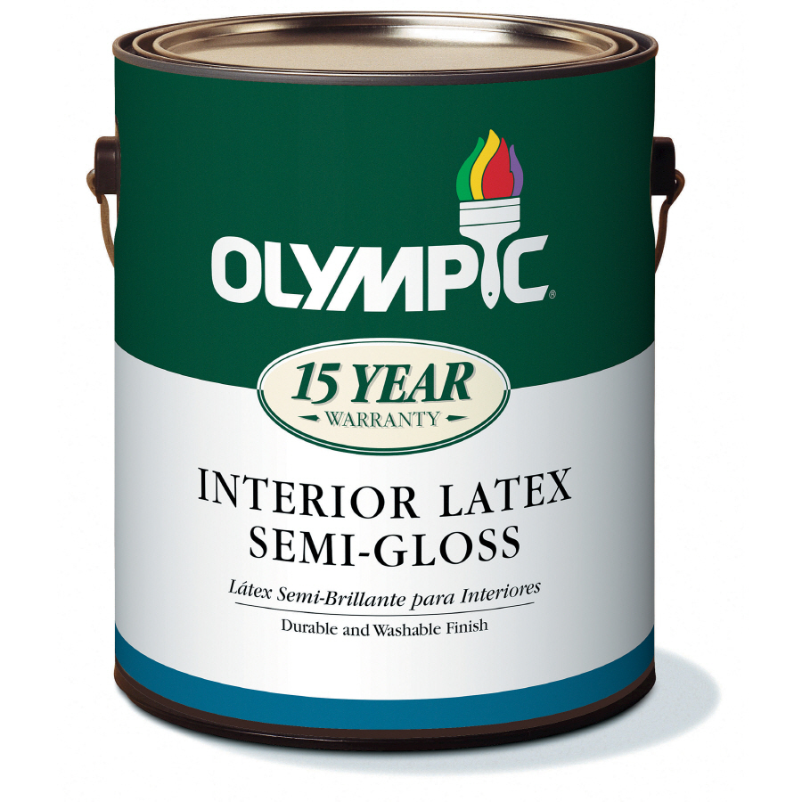 Shop Olympic Gallon Size Container Interior Semi Gloss Tintable White Latex Base Paint Actual