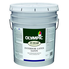 Olympic 5-Gallon Interior Satin White Latex-Base Paint