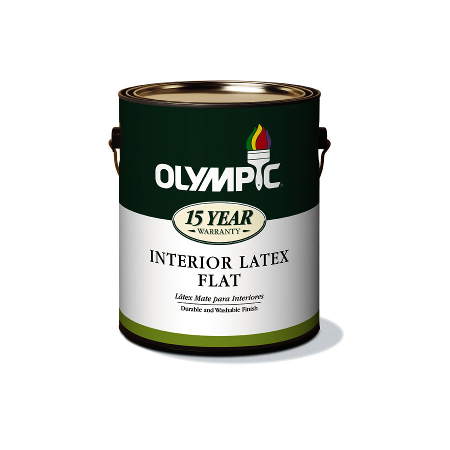 White Latex Paint : Shop olympic gallon size container interior flat tintable