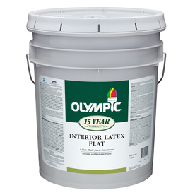 Olympic 5-Gallon Interior Flat Antique White Latex-Base Paint