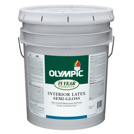 Olympic 5-Gallon Interior Semi-Gloss White Latex-Base Paint