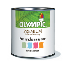 Olympic 8 oz Ultra White Satin Paint Sample