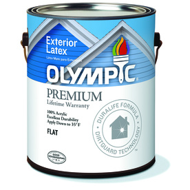 Shop Olympic White Flat Latex Exterior Paint Actual Net