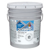 Olympic 5-Gallon Exterior Flat White Paint