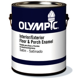 Shop Olympic Clear Satin Latex Interior Exterior Paint Actual Net Contents 114 Fl Oz At