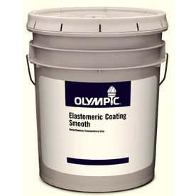 Shop Olympic 5 Gallon Exterior Flat White Latex Base Paint At