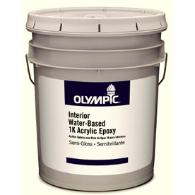 Olympic 5-Gallon Interior Semi-Gloss White Paint