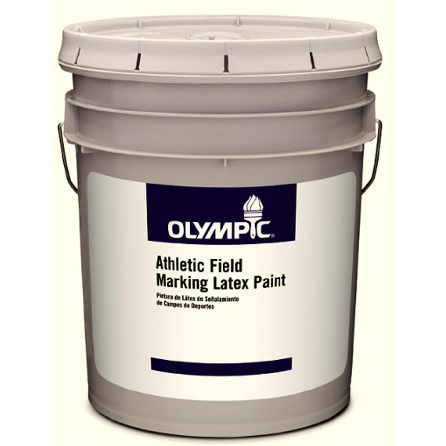 Shop Olympic 5 Gallon Size Container Exterior Flat Tintable Must Be Tinted Latex Base Paint