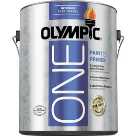 Olympic ONE ONE White Flat Latex Interior Paint and Primer In One (Actual Net Contents: 124-fl oz)