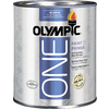 Olympic ONE Quart Interior Flat True White Paint and Primer in One