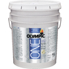 Olympic ONE 5-Gallon Interior Flat True White Paint and Primer in One