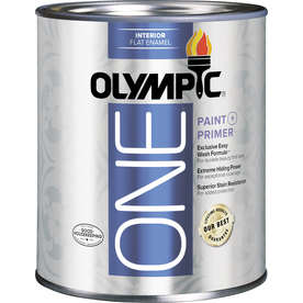 Olympic ONE Quart Interior Flat Tintable Paint and Primer in One