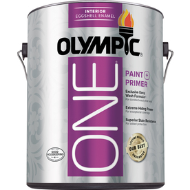 Olympic ONE ONE 124 Fluid Ounce(s) Interior Eggshell White Paint  and Primer In One
