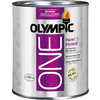 Olympic ONE Quart Interior Eggshell True White Paint and Primer in One