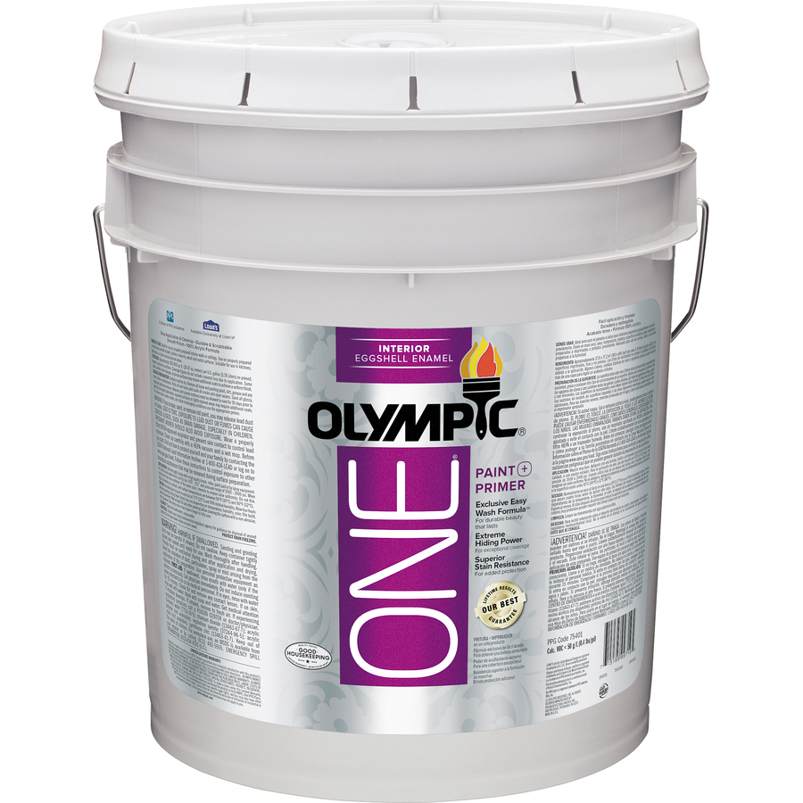 Shop Olympic One One Interior Eggshell Tintable White Latex Base Paint And Primer In One Actual