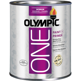 Olympic ONE Tintable Eggshell Latex Enamel Interior Paint and Primer in One (Actual Net Contents: 29.5-fl oz)