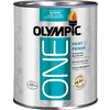 Olympic ONE Quart Interior Satin True White Paint and Primer in One