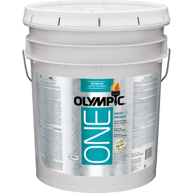 Olympic ONE ONE White Satin Latex Interior Paint and Primer In One (Actual Net Contents: 620-fl oz)