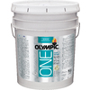 Olympic ONE 5-Gallon Interior Satin True White Paint and Primer in One