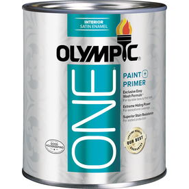 Olympic ONE Tintable Satin Latex Enamel Interior Paint and Primer in One (Actual Net Contents: 29.5-fl oz)