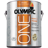 Olympic ONE Gallon Interior Semi-Gloss True White Paint and Primer in One