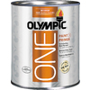 Olympic ONE Quart Interior Semi-Gloss True White Paint and Primer in One