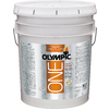Olympic ONE 5-Gallon Interior Semi-Gloss True White Paint and Primer in One
